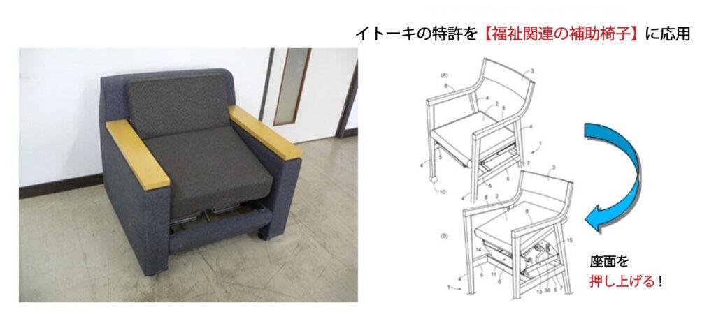 スムーズな起立・着座が可能【起立補助椅子】 有限会社花菱精板工業 イトーキ